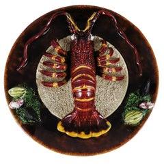 Majolica Portuguese Palissy Lobster Platter, circa 1940