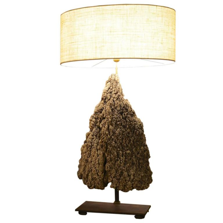"""""""Stalagmite"""" Table Lamp in Natural Color Limestone"""
