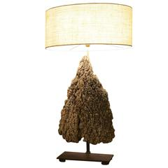 """Stalagmite"" Table Lamp in Natural Color Limestone"