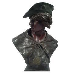 Antique  Victorian E. Picault for Tiffany Esrholier Bronze Sculpture, c1890