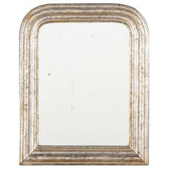 19th Century Louis Philippe Silver Gilt Mirror