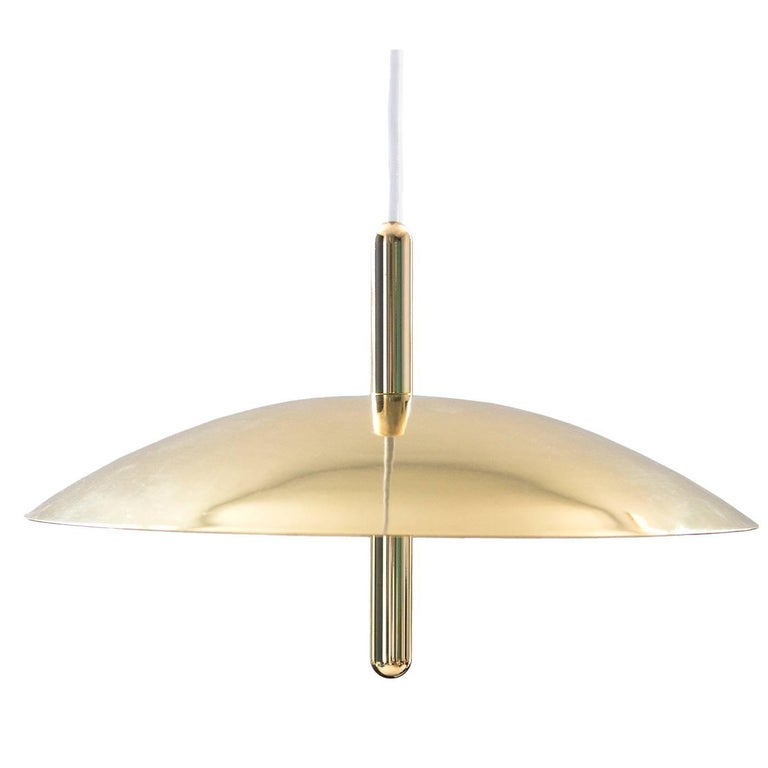 Customizable Signal Pendant Light from Souda, Brass, Made to Order For Sale