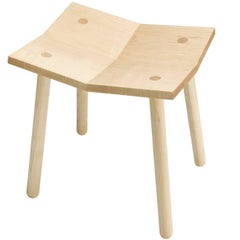 Customizable Mitre Stool from Souda, Low, Maple, Made to Order
