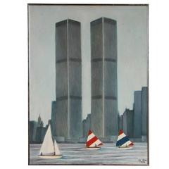 A. Toro Oil Painting Depicting World Trade Centre