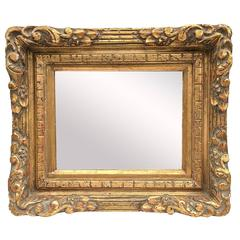 19th Century Italian Carved Gilt Mirror