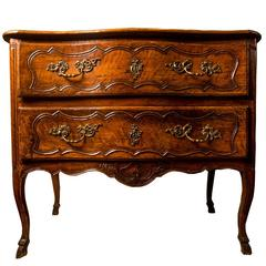 Exceptional King Louis XV Provincial Walnut Commode, France, 18th Early Century