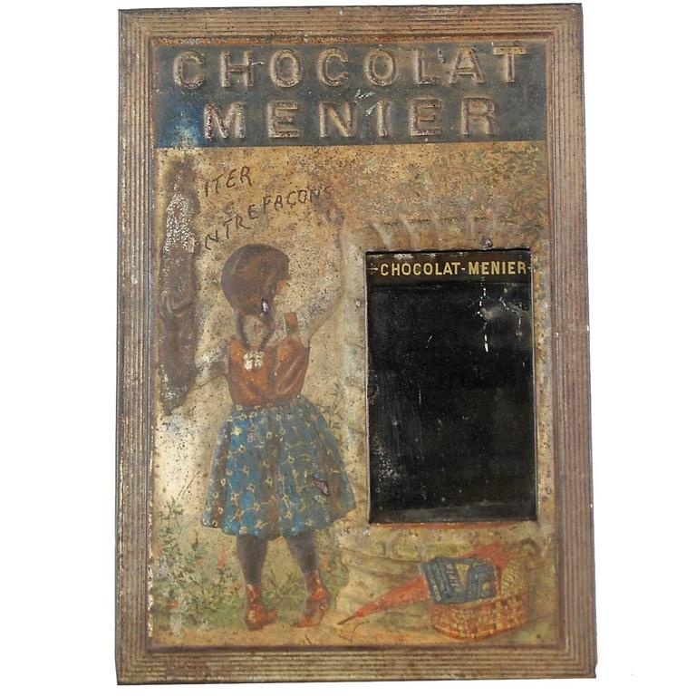 Late 19th Century Menier Chocolat Advertising Mirror For