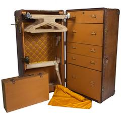 Goyard Large Wardrobe Leather Trunk