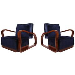 Pair of European 1930s Lounge Chairs