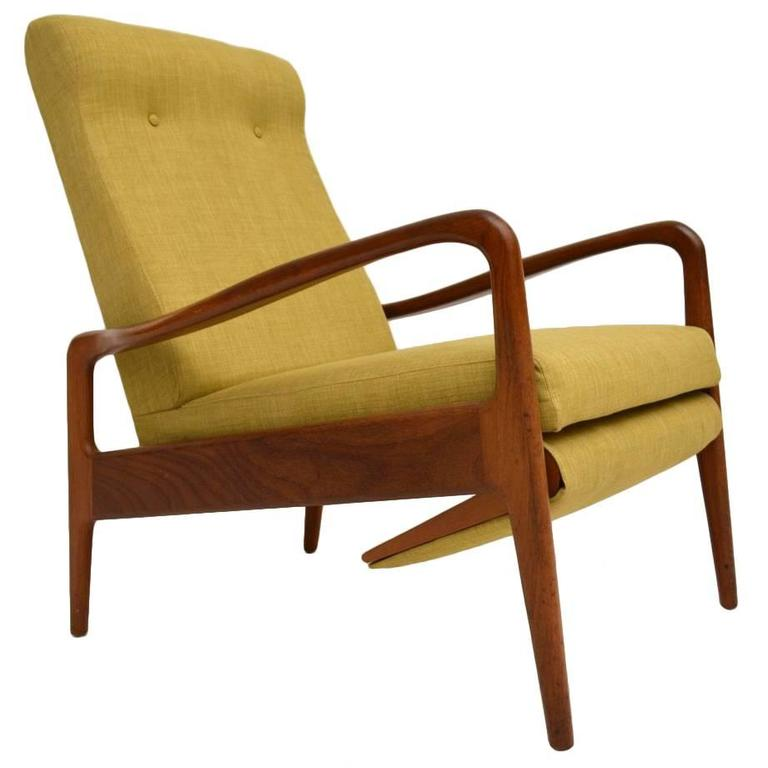 Genial Retro Teak Reclining Armchair By Greaves U0026 Thomas Vintage, 1960s For Sale