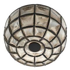 Limburg Flush Mount Light Sconce, Iron Glass, 1960s