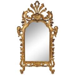 Antique Italian Figural Carved Gilt Mirror