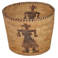 1910-1920 Papago Pictorial  Indian Basket