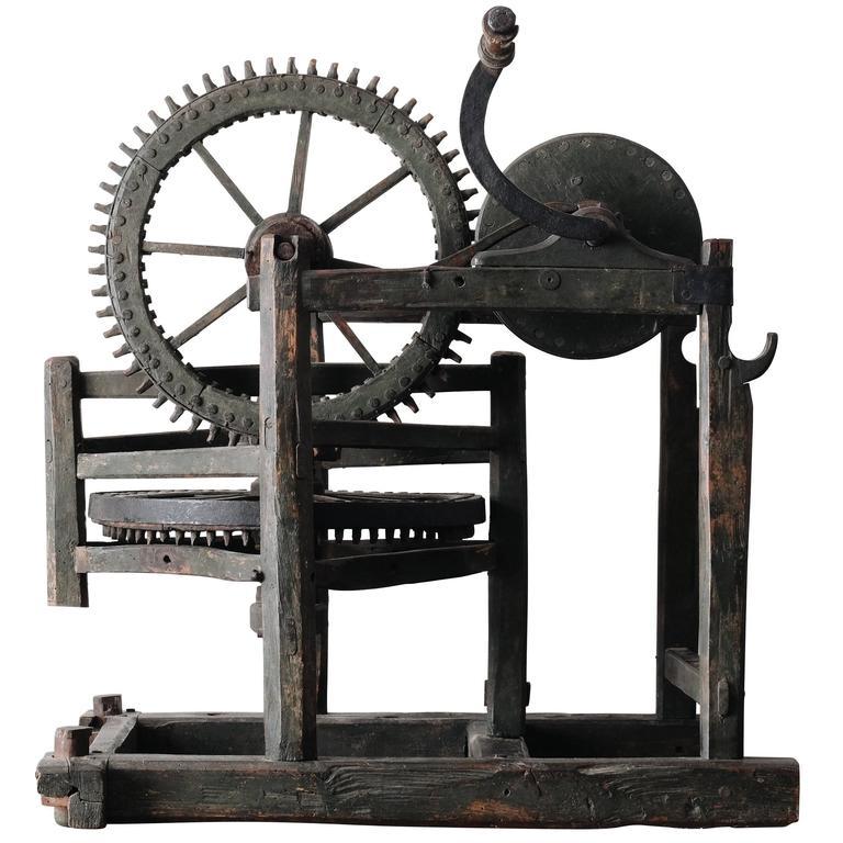 18th Century Hand Powered Machine