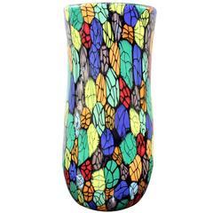 Vitorrio Ferro Unique Handblown Glass Vase, 2000