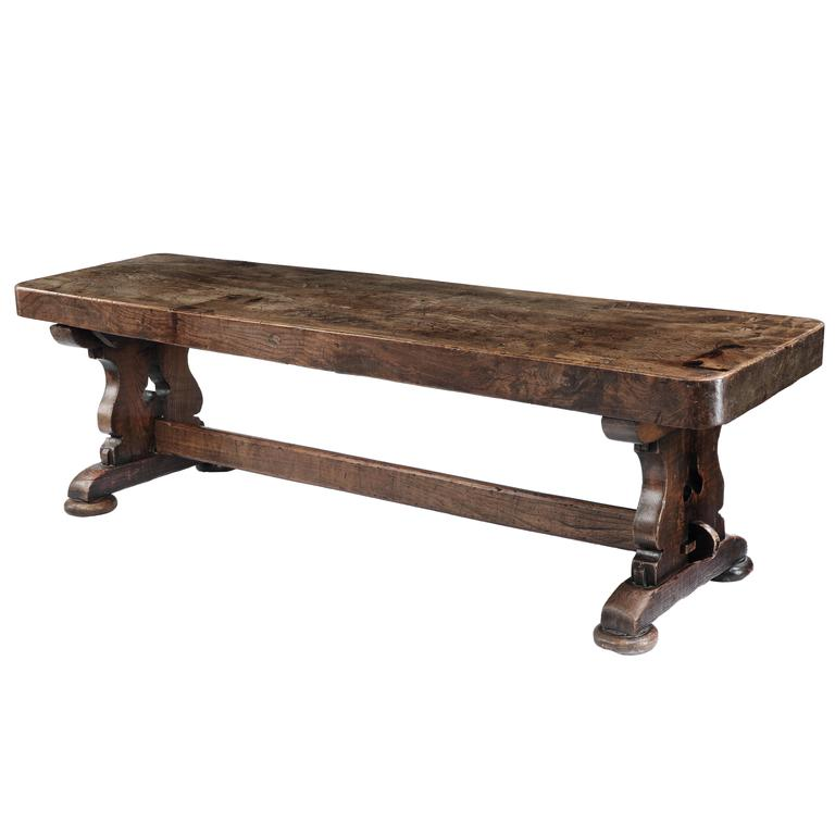 Gothic Revival Elm Refectory Table For Sale At 1stdibs