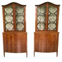 Pair of Corner Cupboard Ascribable to Paolo Buffa, 1940s