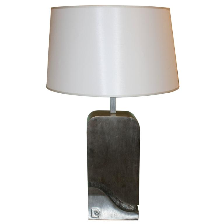 Pierre Cardin Pair of Table Lamp in Iron from the 1970