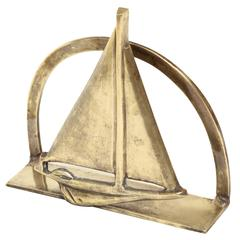 English Art Deco Bronze Letter Rack