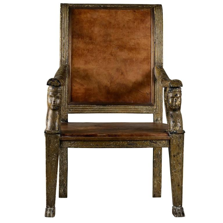 Neoclassical Armchair For Sale