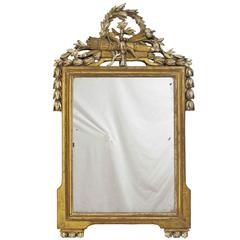 French 18th Century Louis XV White Gold Gilt Mirror