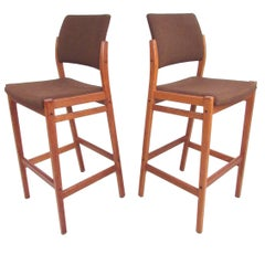 Pair of Danish Modern Teak Stools