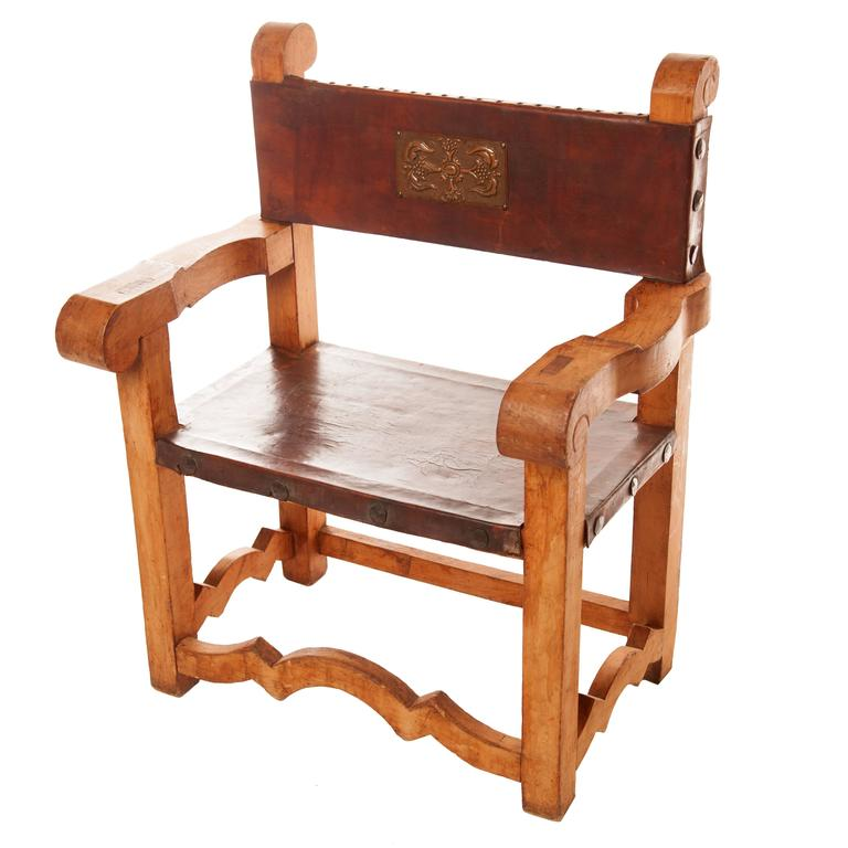 Vintage Mexican Frailero Chair For Sale