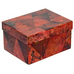 Exotic Lacquered Pen Shell Decorative Box