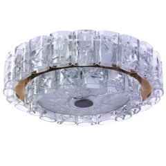 Beautiful 1960s Mid-Century Modernist Flush Mount by Doria