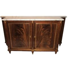 Wonderful French Maison Jansen Ormolu Bronze Marble Top Commode Chest Console