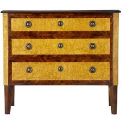 1920s Birch Kingwood Commode Chest of Drawers
