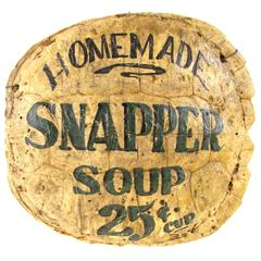 "Turtle Shell ""Snapper Soup"" Trade Sign"