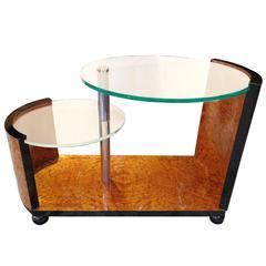 Amboyna Burl Side Table, 1930s