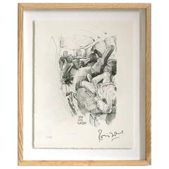 """""""Gig Wagon"""" Signed Limited Edition Framed Print by Ronnie Wood"""