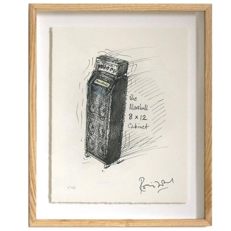 """""""Marshall 8 x 12"""" Signed Limited Edition Framed Print by Ronnie Wood"""