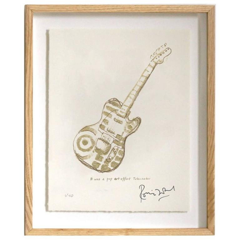 """""""Pop Art Telecaster"""" Signed Limited Edition Framed Print by Ronnie Wood"""
