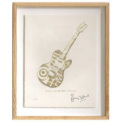 """Pop Art Telecaster"" Signed Limited Edition Framed Print by Ronnie Wood"