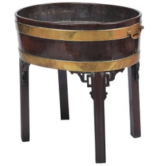 Chippendale Period Mahogany Cellarette or Wine Cooler