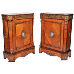 Pair 19th Century Kingwood Pier Cabinets