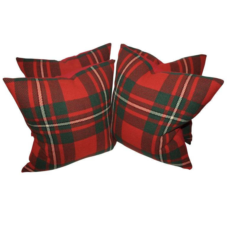 pair of plaid wool blanket pillows for sale at 1stdibs. Black Bedroom Furniture Sets. Home Design Ideas