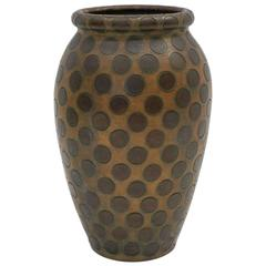 Large-Scale Ceramic Vase or Umbrella Stand with Dots by Zaccagnini