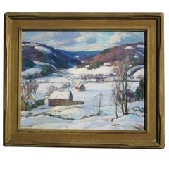 Aldro T. Hibbard Rural Vermont Painting, circa 1930s