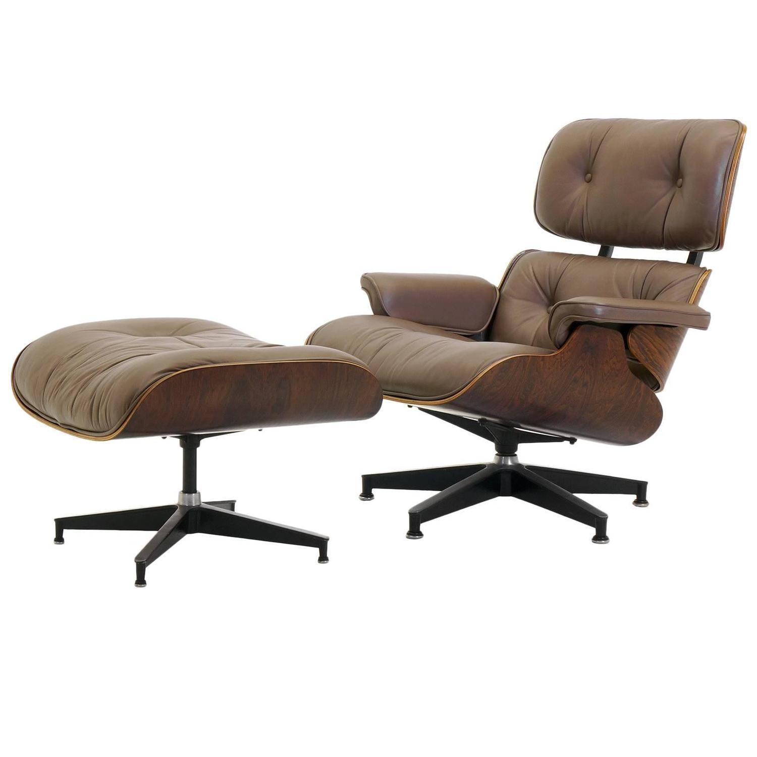 Miraculous Special Order Original Khaki Leather And Rosewood Eames Dailytribune Chair Design For Home Dailytribuneorg