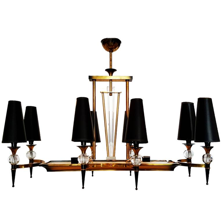 Jacques Adnet Chandelier