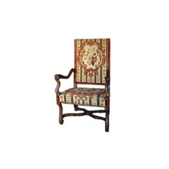 French Louis XIV Style Armchair in Walnut