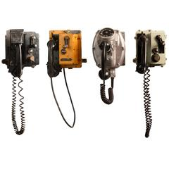 Collection of Vintage Ship Phones