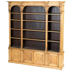 1880s English Open Face Oak Bookcase