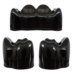 Wendell Castle Black Molar Seating Group Set