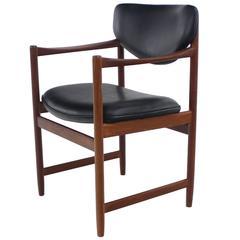 "Scandinavian Modern Teak ""Throne"" Armchair Designed by Westnofa"