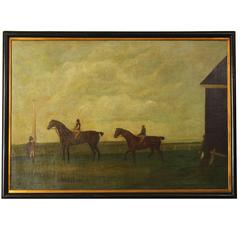 Large 18th Century English Sporting Painting